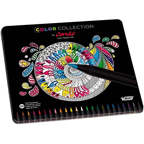Conté Crayons de Couleur - Boîte Métallique Edition Limitée de 24