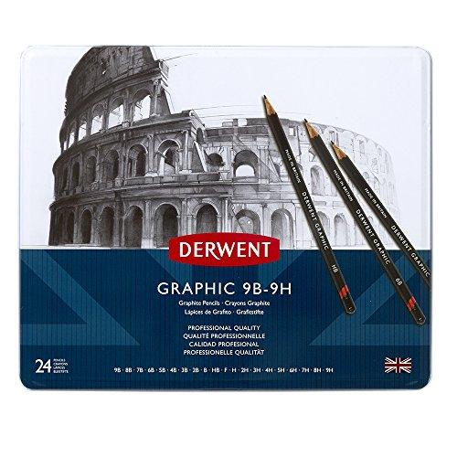 Derwent Graphic Crayons Boîte de 24