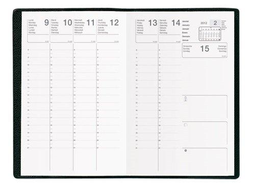 EXDI Agenda Semainier CALYPSO 10 x15 cm 1S / 2P Noir 2020