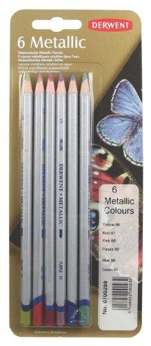 Derwent Crayons de couleurs métalliques emballés sous blister