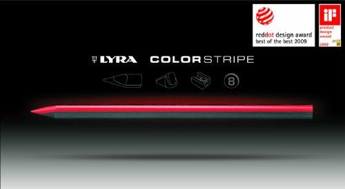 LYRA 2621080 Colorstripe K08 Crayon de couleur Lot de 8 + taille-crayons (Import Allemagne)