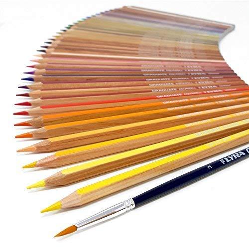 Lyra Crayons aquarelle-Graduate Aquarell-Boîte métal de 36avec brosse