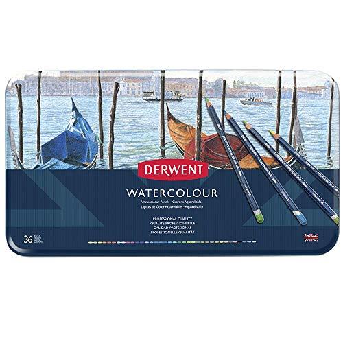 Derwent Crayons aquarellables Boîte métal de 36 (Import Royaume Uni)